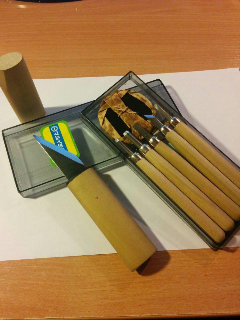набор японских ножей для резьбы